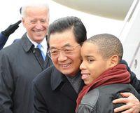 Hu starts state visit to U.S.