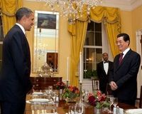 Hu attends dinner hosted by Obama