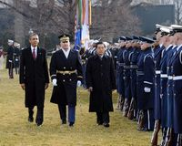 Obama holds welcoming ceremony for Hu