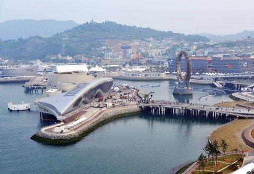 The seafront site of the 2012 Expo is seen in Yeosu, a small city on South Korea's south coast, on May 9, 2012