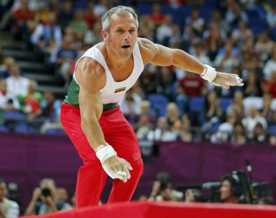 He was born in Plovdiv on Feb 24, 1973. Setting a new Olympic participation record for gymnasts, he reached the men's gymnastics rings finals at the London Olympics, which was his sixth appearance at the Games. [Photo/Agencies]