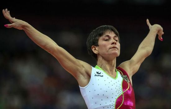 She was born in Bukhara, Uzbekistan, on June 19, 1975. She has represented three countries in her six-time Olympic journey, winning one gold and one silver. IN London, she qualified for the vault finals where she placed in 5th. Afterward She declared she would retire as a gymnast and concentrate on coaching. [Photo/Xinhua]
