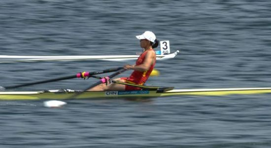 She was born in Wuhan, Hubei province, on Feb 25, 1976. The 1993 world champion has qualified for the Olympic Games for five times. She raced to the sixth in the singles scull finals in London. [Photo/Xinhua]
