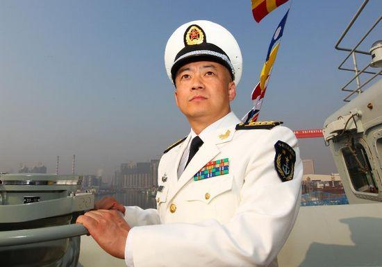 "Zhang Zheng, captain of China's first aircraft carrier ""Liaoning"" poses for a photo on Sept. 24, 2012. (Photo/Xinhua)"