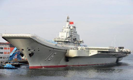 China's first aircraft carrier was delivered and commissioned to the Navy of the Chinese People's Liberation Army on Sept. 25, 2012. (Photo/Xinhua)