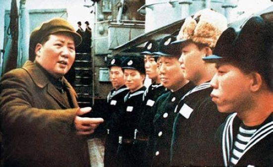 Chairman Mao inspects the PLA Navy. (File Photo)