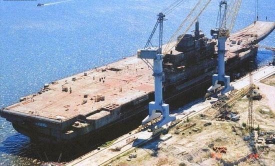 "In the 1980´s, ""Varyag"" was built in Ukraine´s Nikolayev shipyard by the Soviet military. (File photo)"