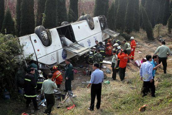 Two separate road accidents killed 19 people in China on Sunday as the weeklong National Day holiday ended. (Photo/Xinhua)