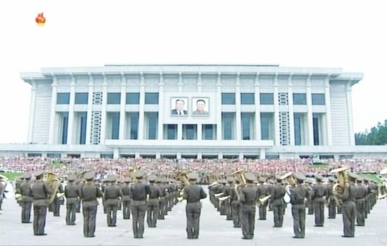 Soldiers march to celebrate the 60th anniversary marking the end of the 1950-53 Korean War, in Pyongyang July 22, 2013.
