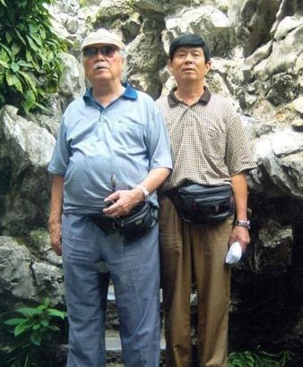 Jackie Chan's father and his half-brother.
