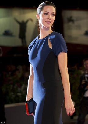 Rebecca Hall Plays It Safe In Dark Floorlength Gown