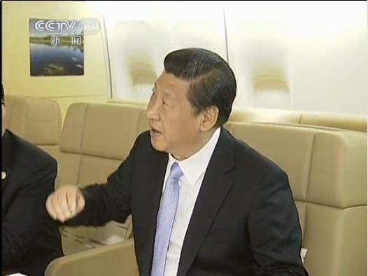 Interior decoration of President Xi's special plane