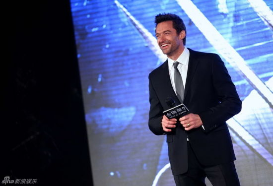 Hugh Jackman in Beijing for Wolverine premiere