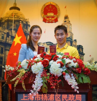 The couple received their marriage certificate in Shanghai on May 8. Yan said the wedding would be at the end of the year.