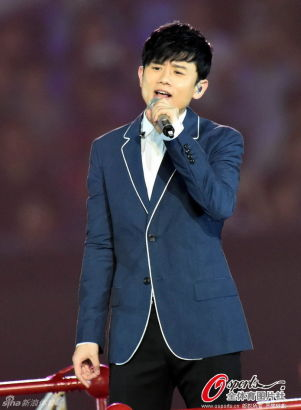 Chinese singer Zhang Jie is rehearsing for the Youth Olympic Games (YOG)
