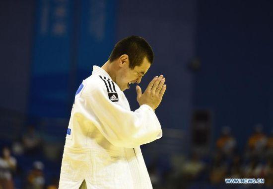 Bauyrzhan Zhauyntayev of Kazakhstan celebrates after Men -55 kg of Judo event of Nanjing 2014 Youth Olympic Games Bauyrzhan Zhauyntayev of Kazakhstan celebrates after Men -55 kg of Judo event of Nanjing 2014 Youth Olympic Games in Nanjing, capital of east China's Jiangsu Province, August 17, 2014. Bauyrzhan Zhauyntayev won the gold medal. (Xinhua/Jiang Kehong)