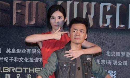 Wang Baoqiang (R) and Charlie Yeung