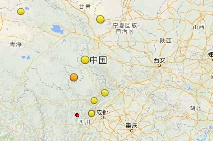 The epicenter Kangding (red dot) is 325 km away from Chengdu, capital of Sichuan province. [Photo/CENT]