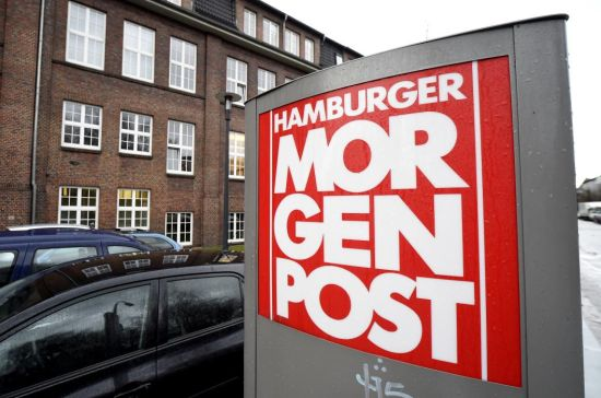 A sign for the German newspaper Hamburger Morgenpost is pictured in front of its building in Hamburg January 11, 2015. (REUTERS/Fabian Bimmer)