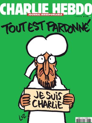 A handout document released on January 12, 2015 in Paris by French newspaper Charlie Hebdo shows the frontpage of the upcoming edition (AFP Photo/)