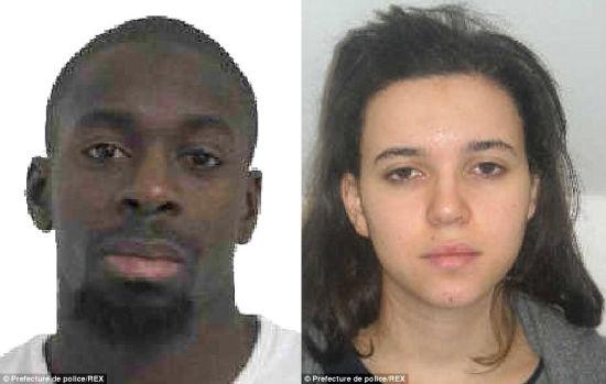 Hayat Boumeddiene and her boyfriend Amedy Coulibaly.