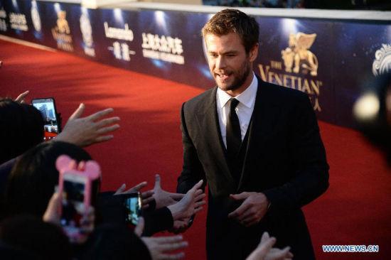 actor Chris Hemsworth [Photo/Xinhua]