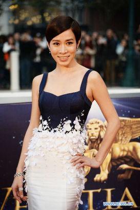 Actress Charmaine Sheh [Photo/Xinhua]