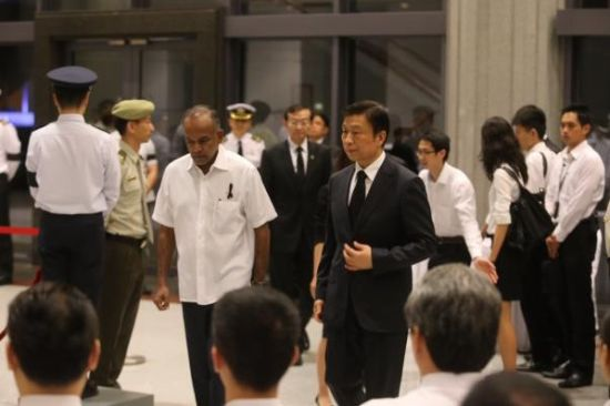 Chinese Vice President Li Yuanchao attended the state funeral of former Singaporean Prime Minister Lee Kuan Yew.