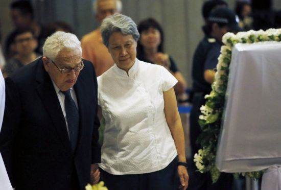 Former US secretary of state Henry Kissinger was a close friend of Lee.