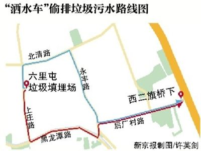The route of the tankers.