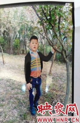 Photo of the boy, Wang Zhiqiang, before he went missing.