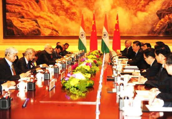Chinese President Xi Jinping and Indian PM Narendra Modi are at formal delegation level talks in Xi'an,Shaanxi province.