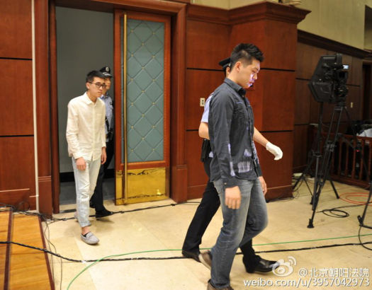 The two drivers Tang and Yu stood trial at Chaoyang People's Court on May 21.