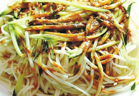 paste cold noodles. Widely eaten in North China, especially in Beijing ...