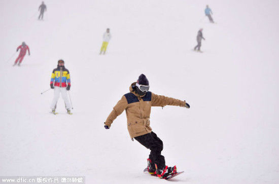 The Genting Snow Park, located in the east of Chongli county, Jan 18, 2015. [Photo/IC]