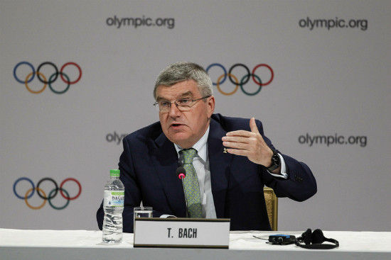 International Olympic Committee President Thomas Bach speaks during a press conference in Kuala Lumpur, Malaysia, Wednesday, July, 29, 2015. [Photo/IC]