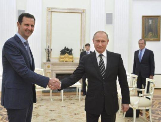 Bashar Assad and Putin hold talks