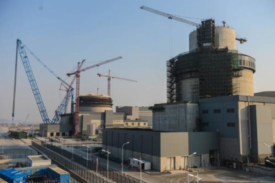 The Sanmen nuclear power plant under construction in Zhejiang province. China has 23 nuclear reactors in operation and 26 under construction. [Photo/Xinhua]