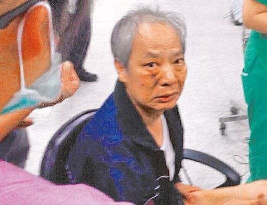 Wong was escorted to a local hospital.