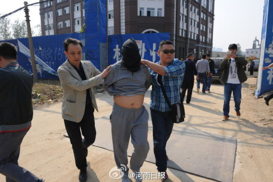 One of the suspects was detained by police in Zhumadian city of Henan province in October, 2015.