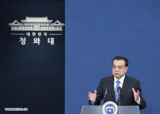hinese Premier Li Keqiang attends a press conference after the sixth China-Japan-South Korea leaders' meeting in the South Korean capital of Seoul, Nov. 1, 2015. (Xinhua/Wang Ye)