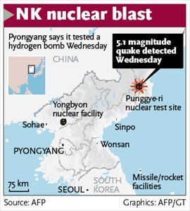 N Korea claims successful H-bomb test