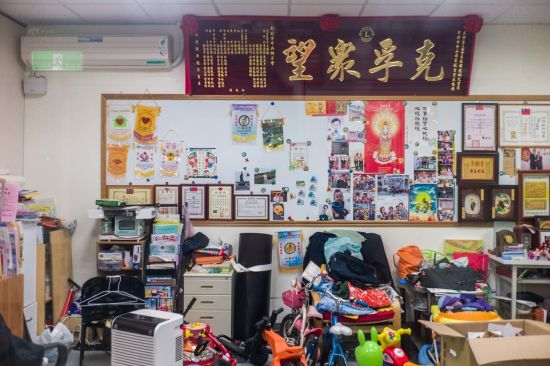 """Many village heads in Taiwan used to dwell in militant dependents' villages. """"As the village head you should always be ready to work for the residents,"""" said a village leader. Photo shows the office of a village head."""