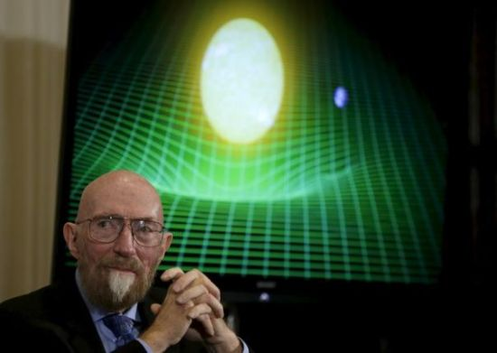 Dr. Kip Thorne of Caltech (R) listens during a news conference to discuss the detection of gravitational waves, ripples in space and time hypothesized by physicist Albert Einstein a century ago, in Washington February 11, 2016.