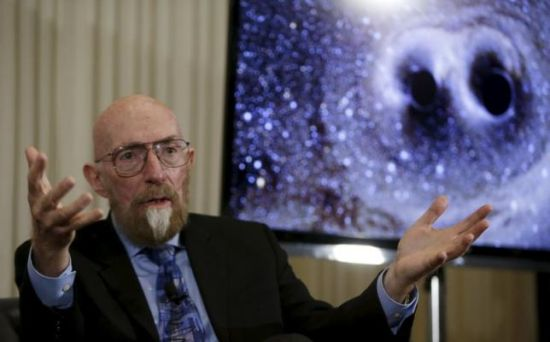 Dr. Kip Thorne of Caltech makes his closing remarks during a news conference to discuss the detection of gravitational waves, ripples in space and time hypothesized by physicist Albert Einstein a century ago, in Washington February 11, 2016.