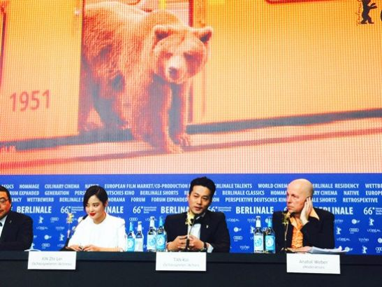 The cast discuss their film in Berlin