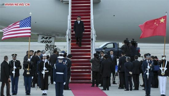 Chinese President Xi Jinping (C) arrives for the fourth Nuclear Security Summit in Washington, the United States, March 30, 2016. (Photo: Xinhua/Xie Huanchi)