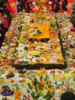 Grand feast shows most dishes