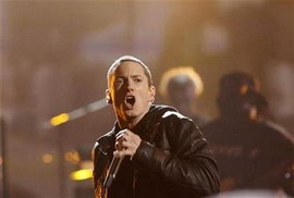 Eminem performs with Dr. Dre