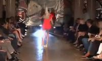 Catwalk model falls on runway